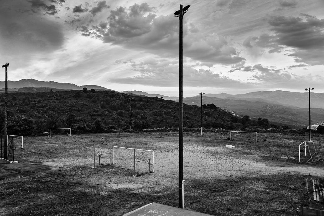 Fußballplatz auf Korsika