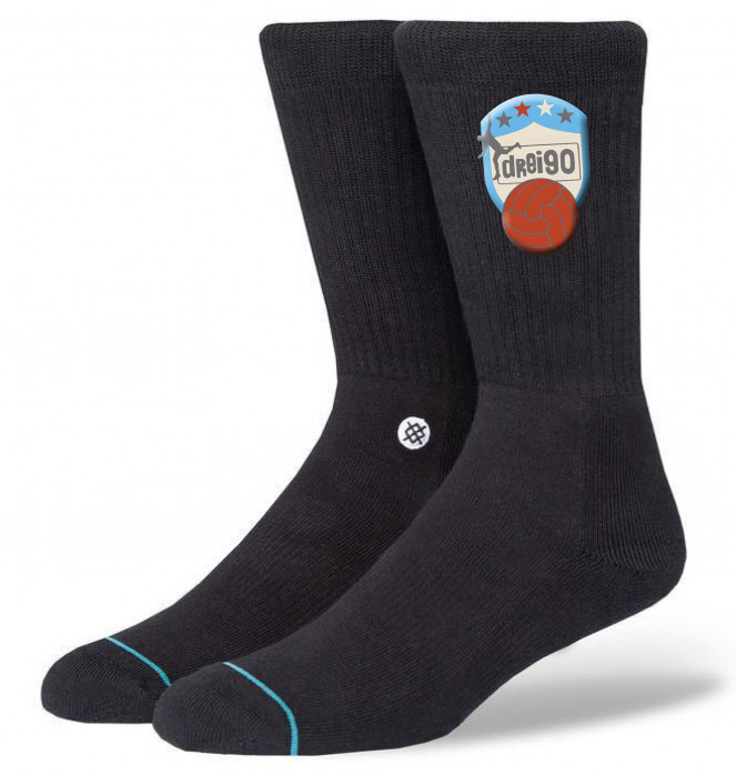 Drei90 Socken schwarz