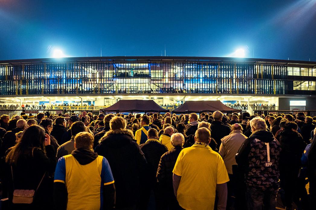Zuschauerandrang im Eintracht-Stadion
