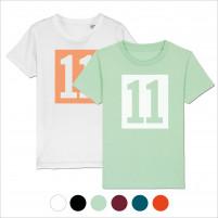 Kinder-Shirt - 11 Kasten-Logo (Fairwear & Bio-Baumwolle)