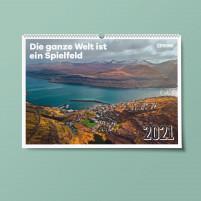 11FREUNDE Wandkalender 2021: Die ganze Welt ist ein Spielfeld