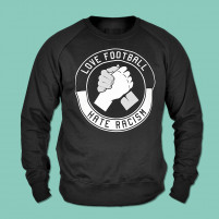 Fairwear-Sweater: Love Football - Hate Racism