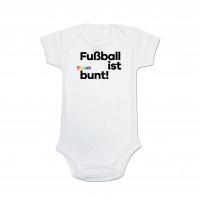 Fußball ist bunt Baby Body (Bio-Baumwolle)