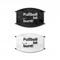 Fußball ist bunt Maske