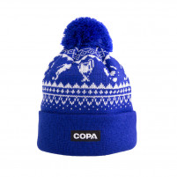 Nordic Knit Beanie | Blue-White