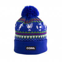 Nordic Knit Beanie | Blue-Red-Green-White