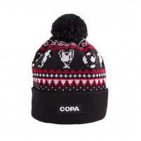 Nordic Knit Beanie | Black-Red-White
