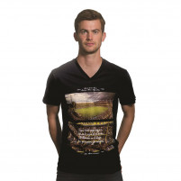 La Bombonera V-Neck T-Shirt | Black