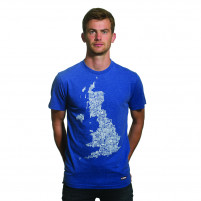 UK Grounds T-Shirt | Blue Mêlée 100% cotton