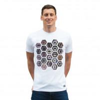Hexagon Stadium T-Shirt | White