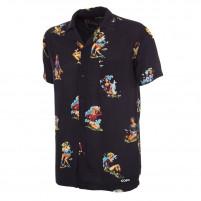 Calcio Donna Camp Collar Shirt (black)