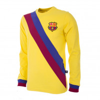 FC Barcelona Away 1974 - 75 Long Sleeve Retro Football Shirt
