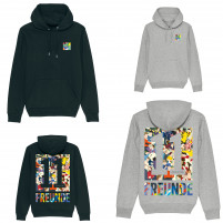 11FREUNDE Clash Hoodie (Design: HANDS OF GOD)