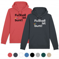 Hoodie - Fußball ist bunt (Fairwear & Bio-Baumwolle)