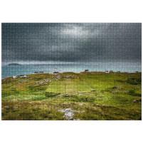 Puzzle: Rasenplatz an der schottischen Küste