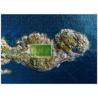 Puzzle: Fußballplatz auf den Lofoten