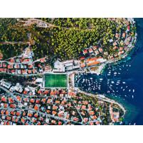 Fußballplatz an der kroatischen Adria