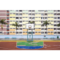 Basketballplatz in Hongkong