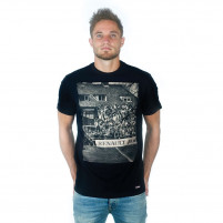 Terraces Photo T-Shirt | Black