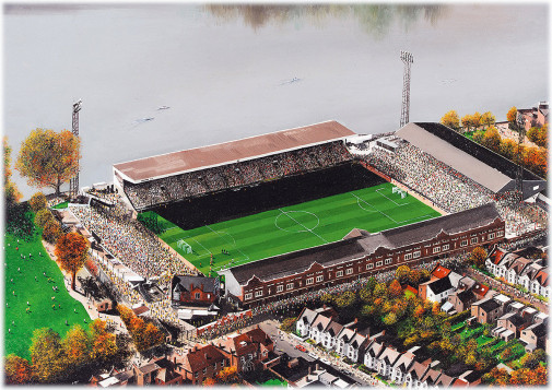 Stadia Art: Craven Cottage (aerial)