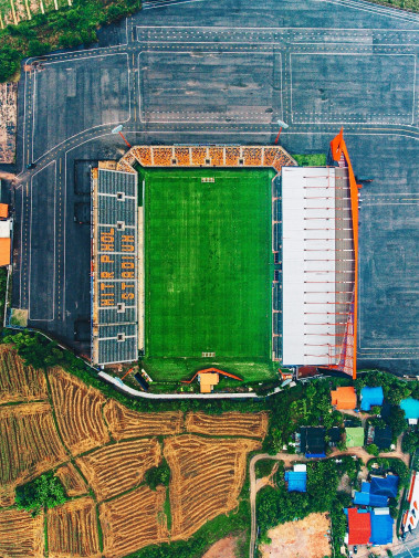 Vogelperspektive Mitr Phol Stadium