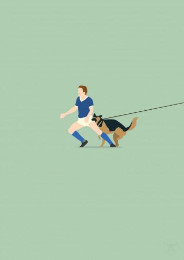 Hundebiss beim Revierderby - Schalke 04 Friedel Rausch Poster - 11FREUNDE SHOP