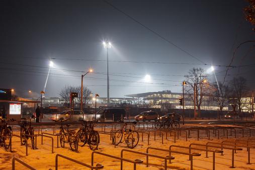 Eintracht Stadion bei Flutlicht - Christoph Buckstegen - 11FREUNDE BILDERWELT