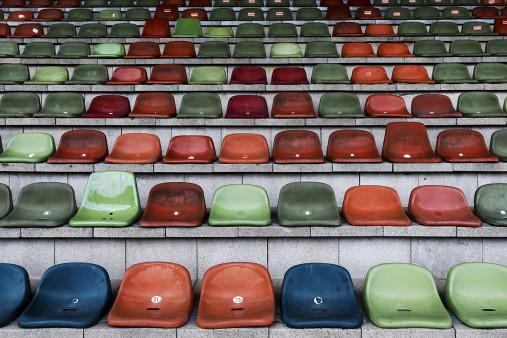 Schalensitze im Niederrheinstadion - Christoph Buckstegen Foto - 11FREUNDE SHOP