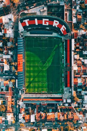 Vogelperspektive Estadio Jose Dellagiovanna - CA Tigre Stadion Wandbild - 11FREUNDE SHOP