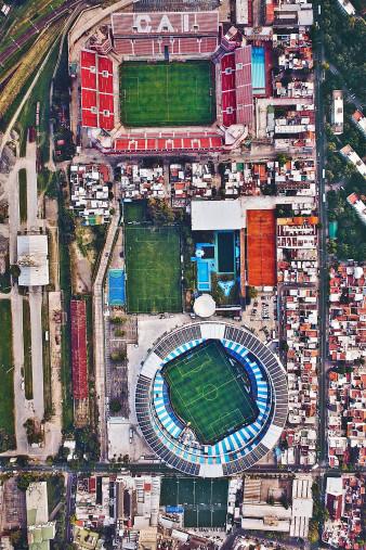 Vogelperspektive Nachbarstadien in Argentinien