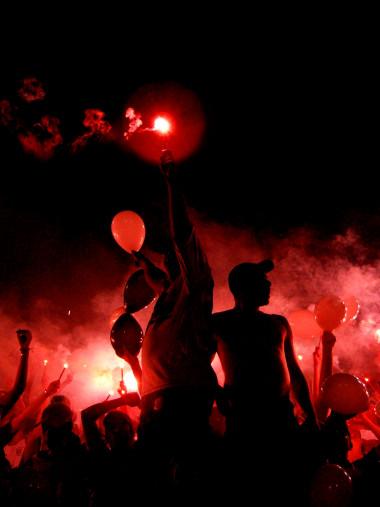Ponte Preta Fans With Pyro - Gabriel Uchida - 11FREUNDE BILDERWELT