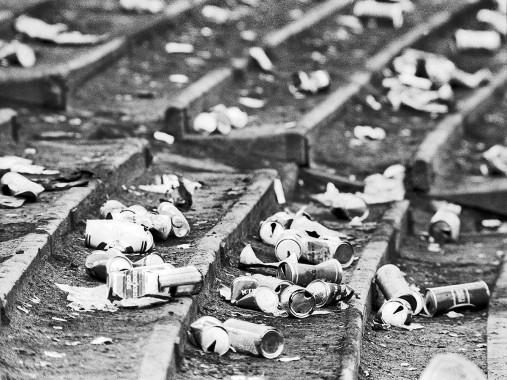 Dosenbier im Hampden Park