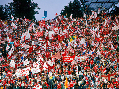 Nottingham Forest Fans Olympiastadion München - Wandbild - 11FREUNDE SHOP