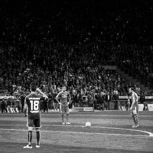 HSV Freistoß ins Glück (sw) - 11FREUNDE SHOP - Fußball Wandbild