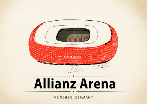 World Of Stadiums: Allianz Arena - Poster bestellen - 11FREUNDE SHOP