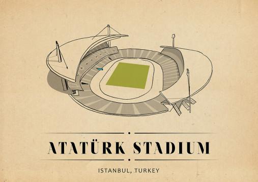 World Of Stadiums: Atatürk Stadium - Poster bestellen - 11FREUNDE SHOP