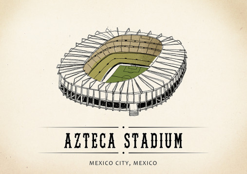 World Of Stadiums: Azteca Stadium - Poster bestellen - 11FREUNDE SHOP