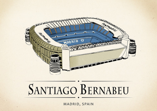 World Of Stadiums: Bernabéu - Poster bestellen - 11FREUNDE SHOP
