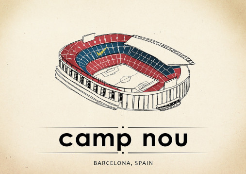 World Of Stadiums: Camp Nou - Poster bestellen - 11FREUNDE SHOP
