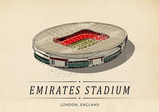 World Of Stadiums: Emirates Stadium - Poster bestellen - 11FREUNDE SHOP