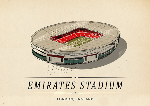 World Of Stadiums: Emirates Stadium - Poster bestellen - 11FREUNDE SHOP