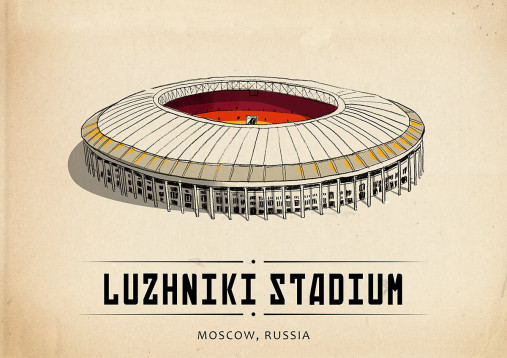 World Of Stadiums: Luzhniki Stadium - Poster bestellen - 11FREUNDE SHOP