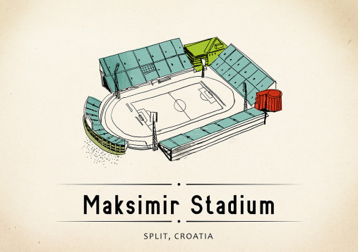 World Of Stadiums: Maksimir Stadium - Poster bestellen - 11FREUNDE SHOP
