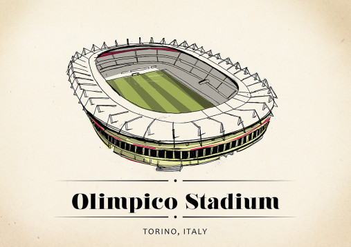 World Of Stadiums: Olimpico Stadium - Poster bestellen - 11FREUNDE SHOP