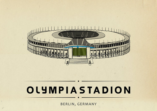 World Of Stadiums: Olympiastadion - Poster bestellen - 11FREUNDE SHOP