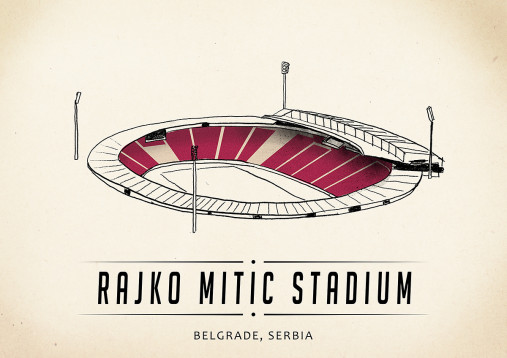 World Of Stadiums: Rajko Mitić Stadium - Poster bestellen - 11FREUNDE SHOP