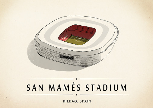 World Of Stadiums: San Mamés Stadium - Poster bestellen - 11FREUNDE SHOP