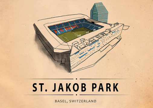 World Of Stadiums: St. Jakob Park - Poster bestellen - 11FREUNDE SHOP