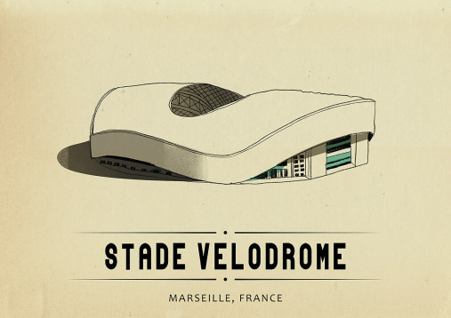 World Of Stadiums: Stade Vélodrome - Poster bestellen - 11FREUNDE SHOP