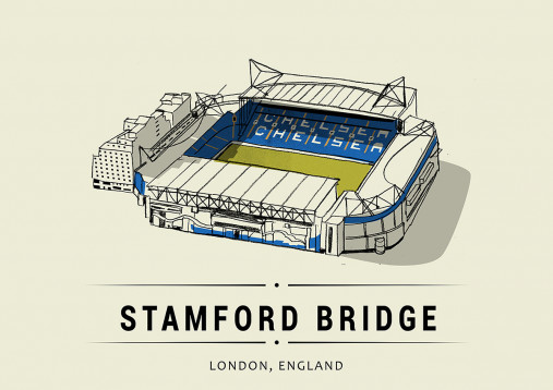 World Of Stadiums: Stamford Bridge - Poster bestellen - 11FREUNDE SHOP